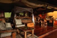 royal mara camp tent bed