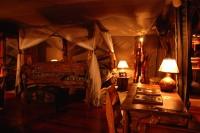 tent interior during night